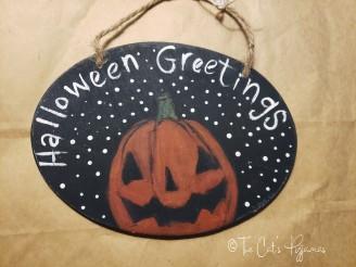 Halloween Greetings Sign