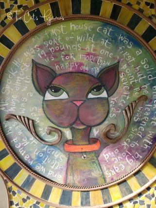Cat in Mosaic Frame -- Local Pickup Preferred!
