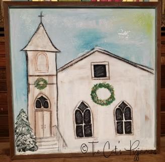 Vintage Church Painting