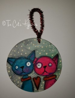 Colorful Kitties ornament