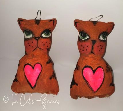 Orange Tabby Ornaments