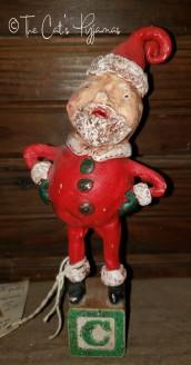 Santa on Vintage block
