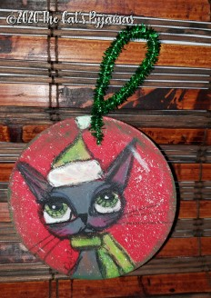 Santa Kitty Ornament