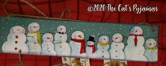 Snowman Gathering sign