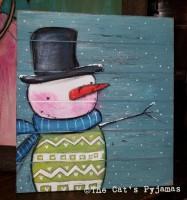 Sawyer the Snowman sign