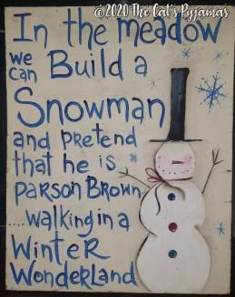 Build a Snowman Sign