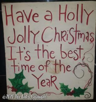Holly Jolly Christmas Sign