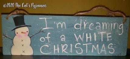 White Christmas sign