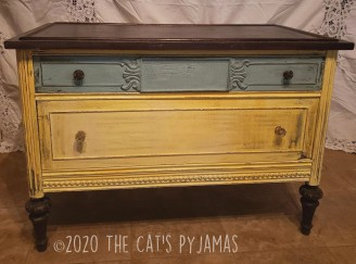 Yellow and Blue Lowboy