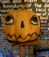 Jack-o-Lantern head makedo