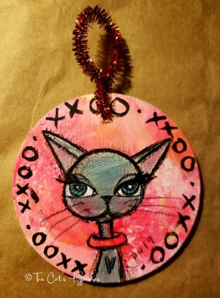 xoxo Kitty ornament