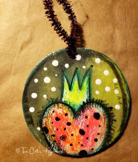 Heart & Crown ornament