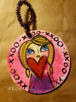Girl with a Heart ornament