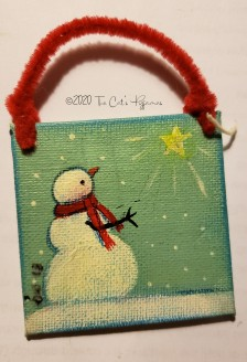 Snowman and Star Ornament