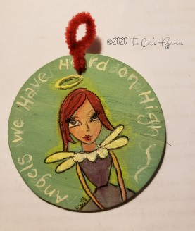 Red Headed Angel Ornament