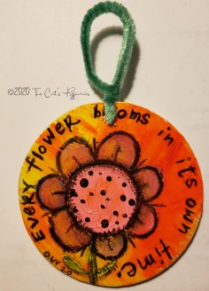 Funky Flower ornament