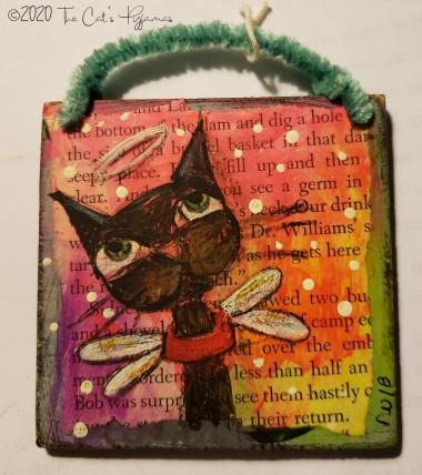 Angel kitty ornament