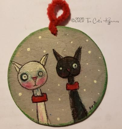 Cat Buddies ornament