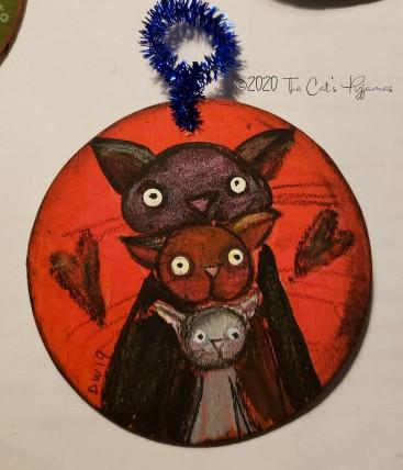 Cat Family ornament