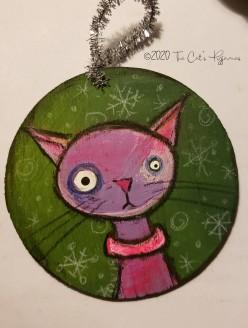 Violet ornament