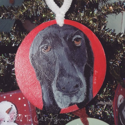 Custom Order Black Lab ornament
