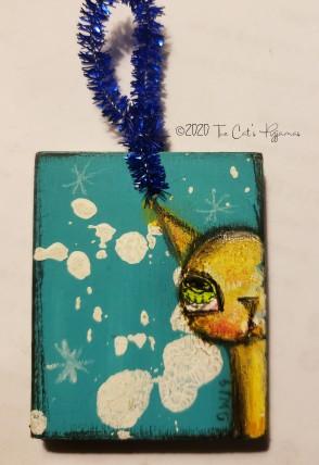 Cat in Snow ornament