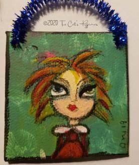 Rainbow hair ornament