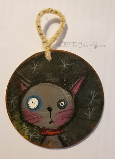 Gray Kitty ornament
