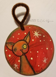 Kitty in the Snow ornament