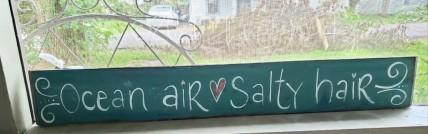 Ocean Air, Salty Hair sign