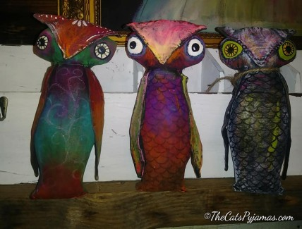 SOLD 3 Owls