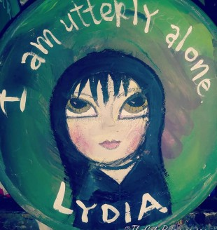 Lydia painted bowl