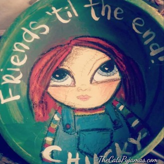 Chucky painted bowl