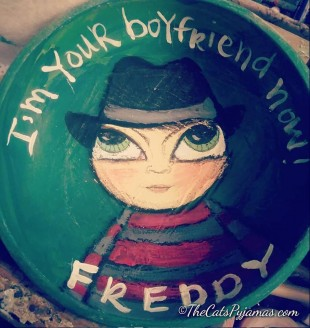 Freddy Kreuger painted bowl