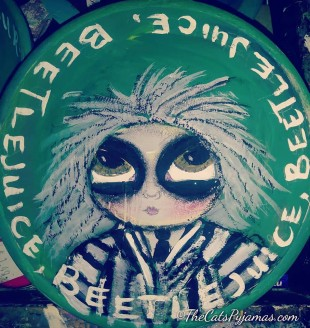 Beetlejuice painted bowl