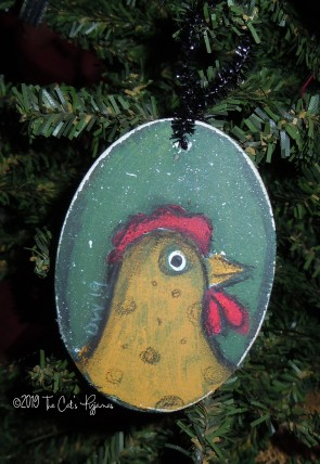 Yellow Chicken Ornament