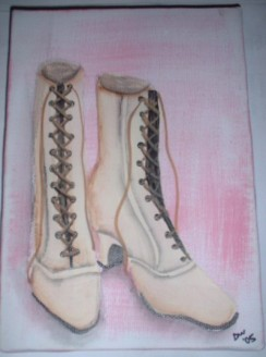 SOLD Victorian Shoes (white)
