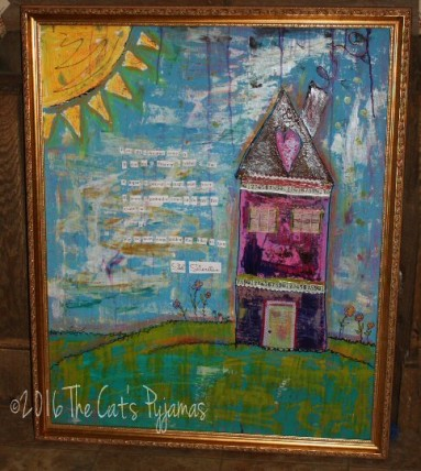 Mixed Media House Painting