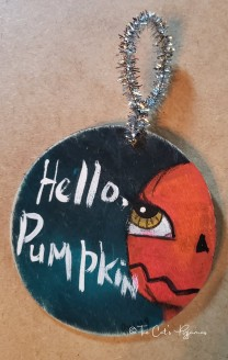 Hello, Pumpkin ornament