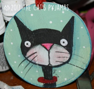 SOLD Tuxedo Cat Ornament