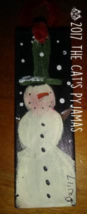 Skinny Snowman ornament o42