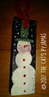 Skinny Snowman ornament o43