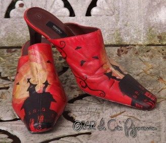 Haunted House hand-painted shoes