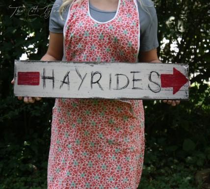 Hayride sign